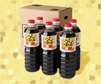 カネニシ1ℓ 6本セット(濃口醤油1ℓ×6)